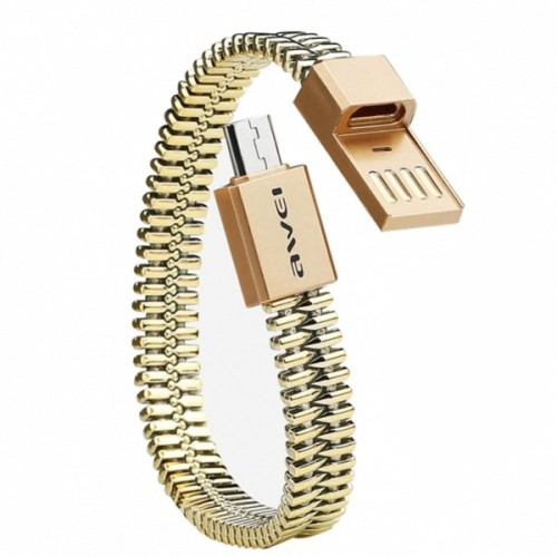 USB кабель Awei CL-86 MicroUSB золотистый